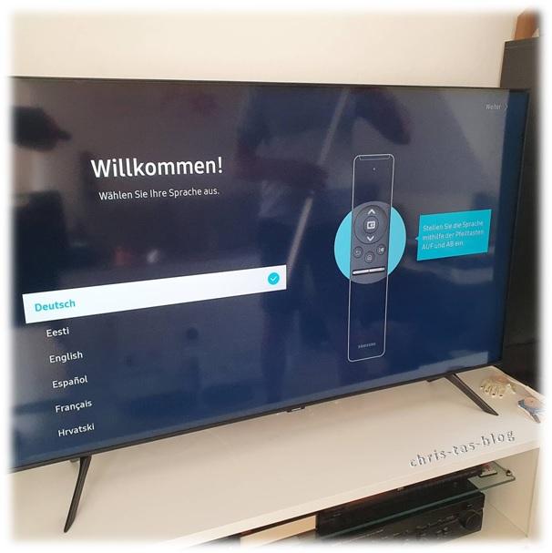 Erst Schritte Samsung QLED TV