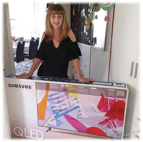 So kam der Samsung QLED bei  mir an