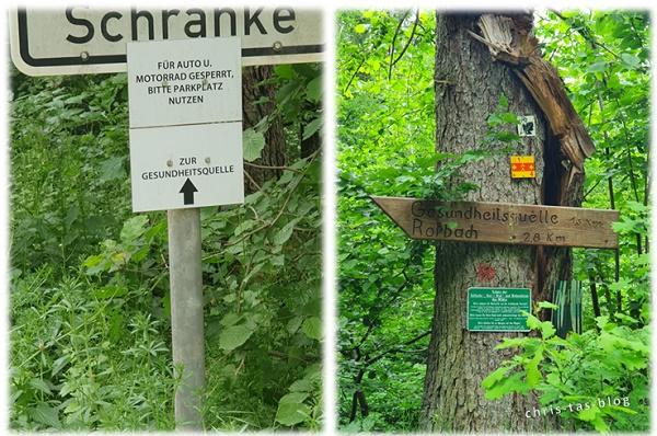Hinweisschilder zur Gesundheitsquelle Baudenbach