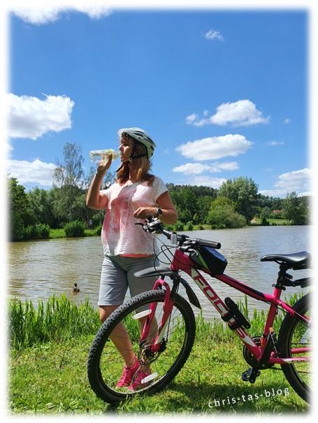 Volvice essence Gurke-Minze ideal für bike-touren