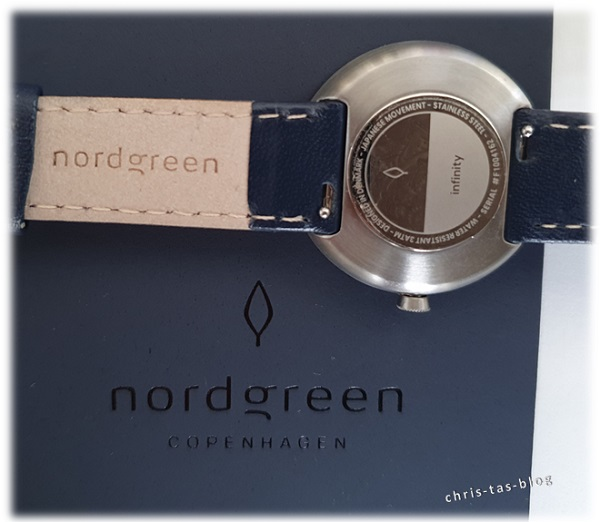 Rückseite mit Verschluß des austauschbaren Armbandes Nordgreen Copenhagen