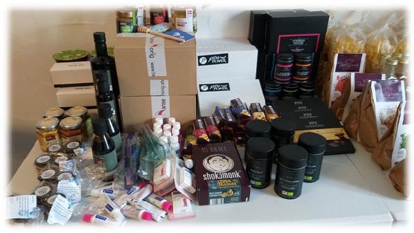 Produkte beim Bloggertreffen