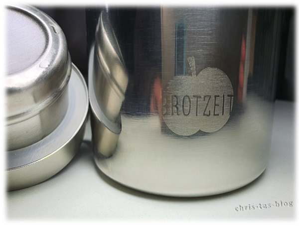 Apfel Logo Druck Brotzeit Trinkflasche