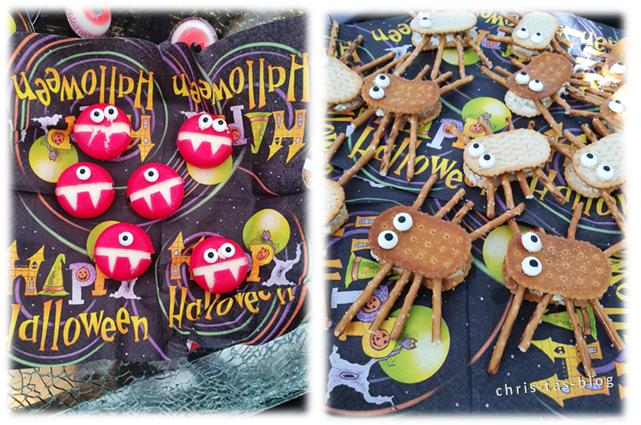 Halloween Fingerfood Spinnen