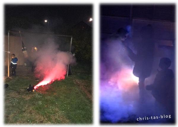 Nebelmaschine zu Halloween