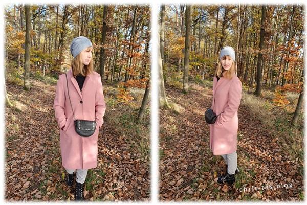 Fashion-Trend Herbst Winter 2020 Wintermantel und Biker Boots
