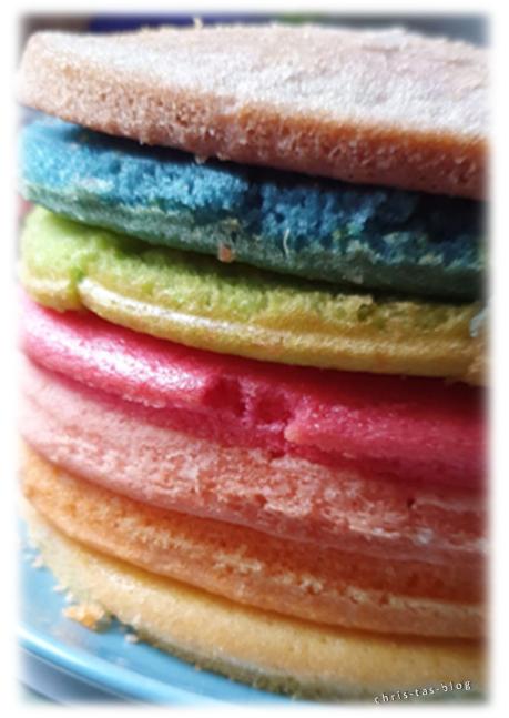 gebackene Wunderkuchen Rainbow