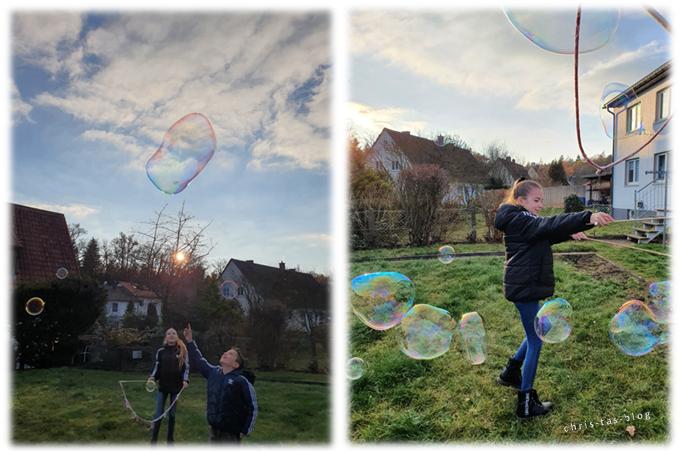 schillernder Seifenblasen-Spaß Bubble-Zauber