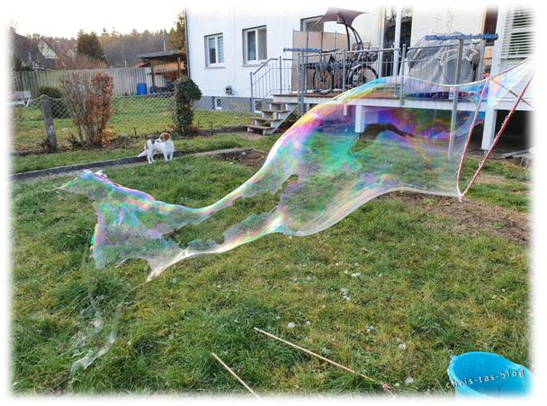 Wahnsinn- wie groß die Seifenblasen werden