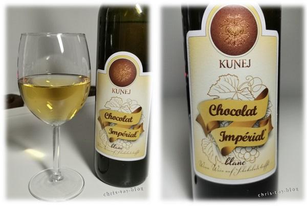 goldene Farbe: Chocolat Imperial Wein von Steiner & Kovarik