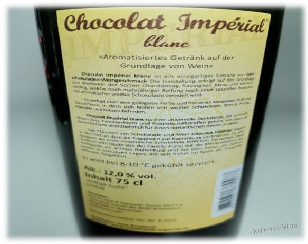 Label Chocolat Imperial blanc von Steiner & Kovarik