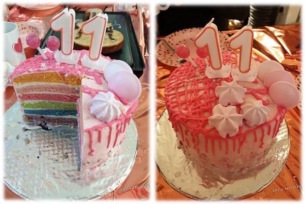 Rainbow Drip Cakes zum Geburtstag