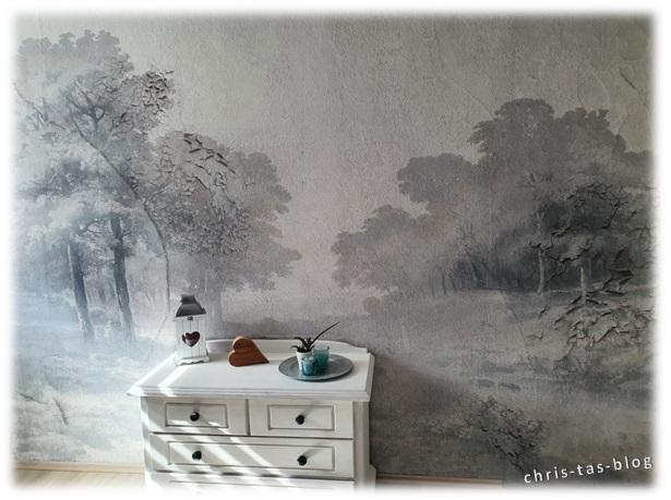 Wand mit Fototapete kith2kin