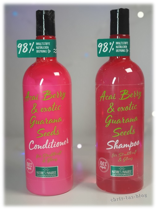 Shampoo & Conditioner Acai Berry & exotic Guarana Seeds Nature´s Paradise