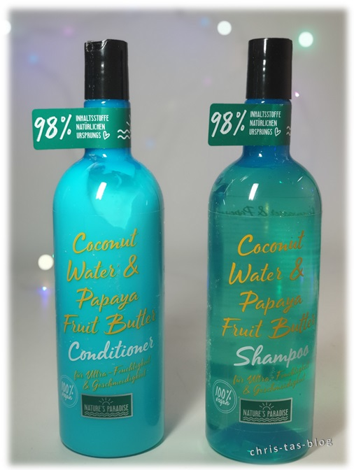 Shampoo & Conditioner Coconut Water & Papaya Fruit Butter