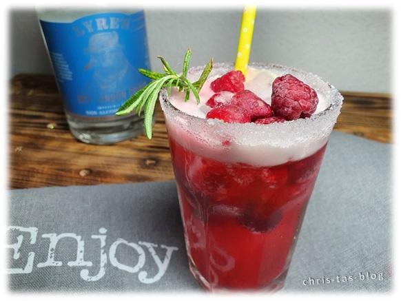 lecker und erfrischend: alkoholfreier Himbeer-Gin-Tonic