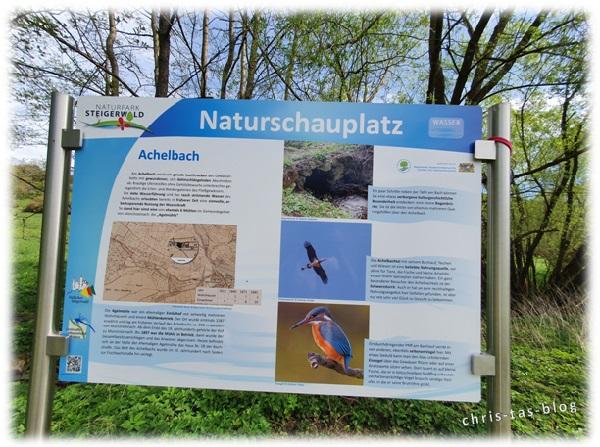 Infotafel Naturlehrpfad Achelbachtal