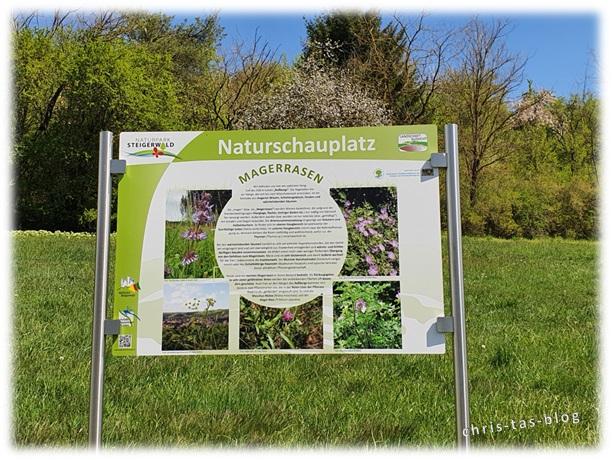 Infotafel Naturschauplatz Magerrasen Achelbachtal