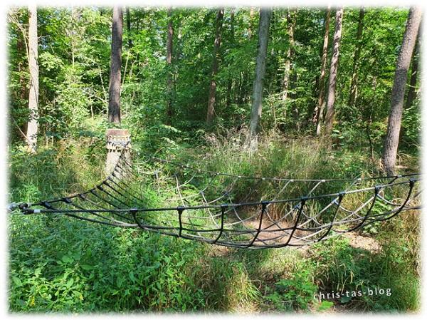 wenig besucht: Spielgerät NatURwaldweg Wolfsee