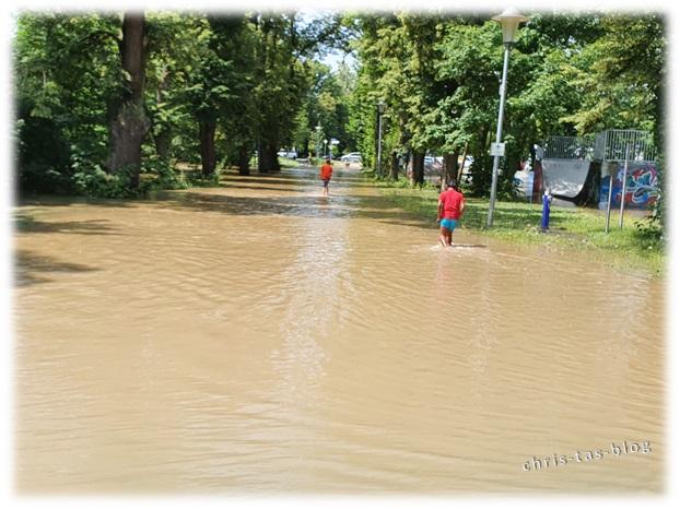 Überflutete Straßen Neustadt Aisch Jahrhunderthochwasser 2021