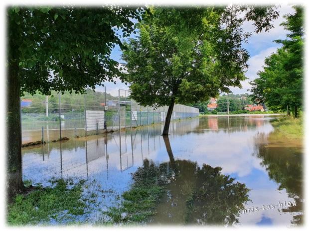 Radweg überflutet Neustadt Aisch 2021