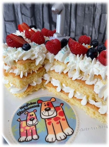 Lettercake Numbercake von der Seite