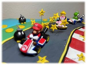 Motivtorte Super Mario Peach Yoshi
