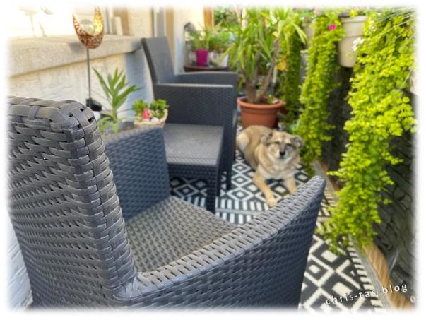 Mein Balkon mit Polyrattan-Möbeln