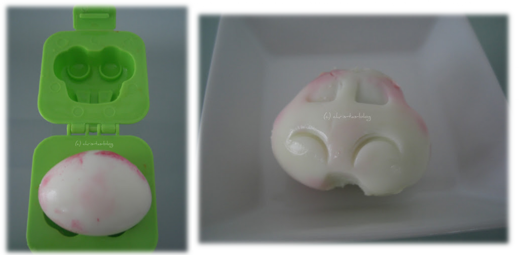 so bringt man gekochte Eier in Auto-Form