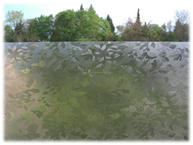 Mein Fenster mit einfacher Folie beklebt