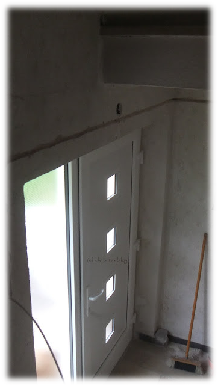 Unsere neue Haustüre wurde eingesetzt