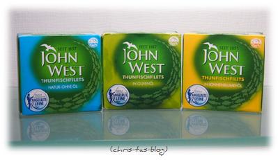 3 Sorten Thunfischfiltes von John West
