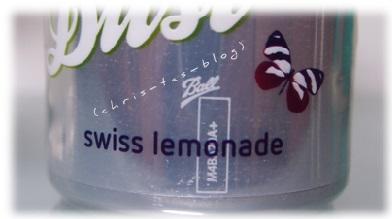 Aufdruck Schweizer Limonade White Dust