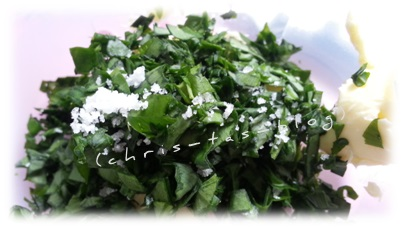 Pesto-Zugaben im Preppie