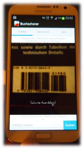 Barcode-Scanner der Buchschoner-App