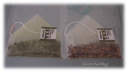 Bio-Gemüsetee in Pyramidensäckchen