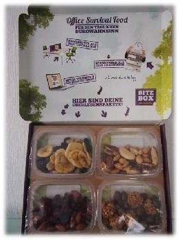 Bitebox enthält 4 verschiedene Snackboxen