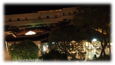 Blick auf Restaurant und Bar