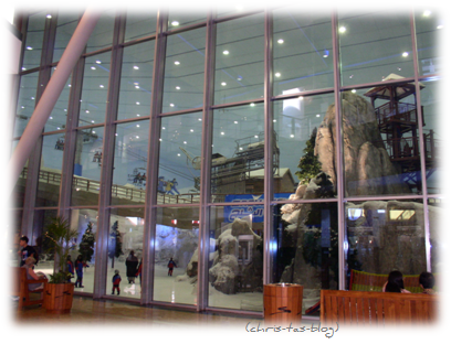 Blick auf Ski Dubai von der Dubai Mall