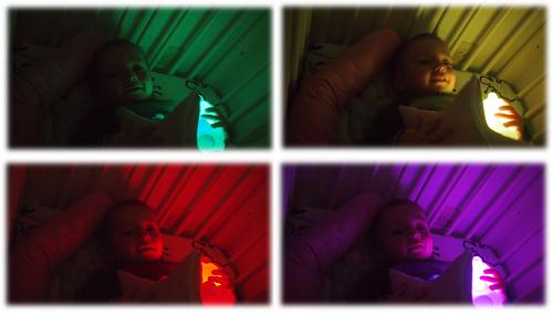 Brooklyn mit seinem neuen Nachtlicht Farbwechsel