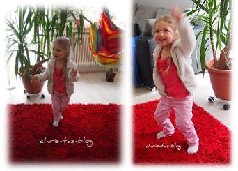 Virginia tanzt zu Kinderlieder CD von Europa Family Music