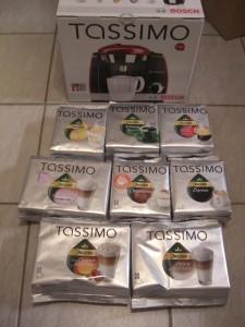 Meine Tassimo und viele Testpäckchen