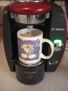 mein erster Tassimo-Kaffee
