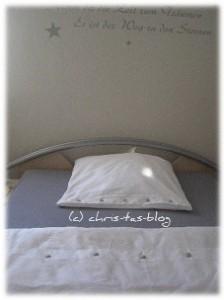 Bettwäsche frisch aufgezogen