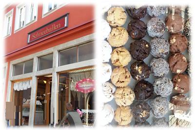 Cafe Schneeballen am Marktplatz Rothenburg o.d.Tauber