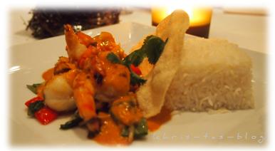 Crevetten mit Reis