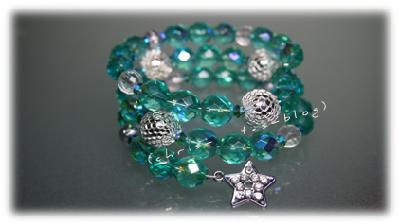DIY türkis-silbernes Armband