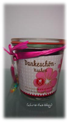 Dankeschön-Kuchen aus der glücksmanufaktur