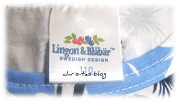 Label am T-Shirt von Lingon & Blåbär