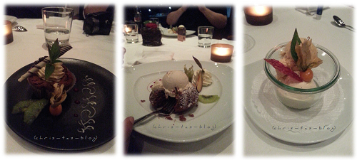 Desserts im Schlössli Wörth